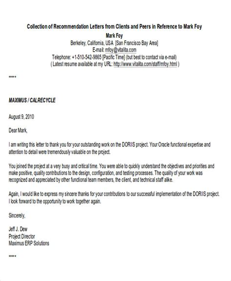 business letter format recommendation 8 sle business recommendation letter free sle