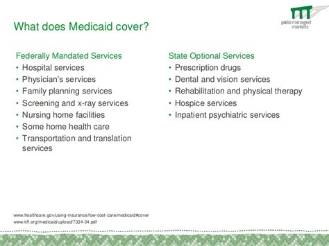 what does medicaid cover federally