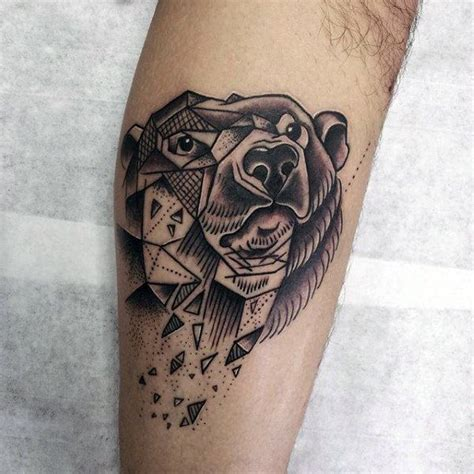geometric bear tattoo bear tattoo meaning and symbolism the wild tattoo
