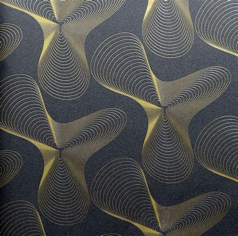 Nature Murals For Walls karim rashid designer wallpaper retro 52016 black gold