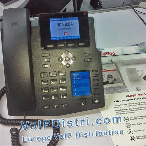 Fanvil X4 High End Enterprise Desktop Ip Phone Poe voipdistri voip shop fanvil x4g gigabit ip telefon mit