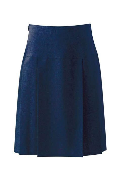 banner henley senior pleated skirt navy trutex skirts