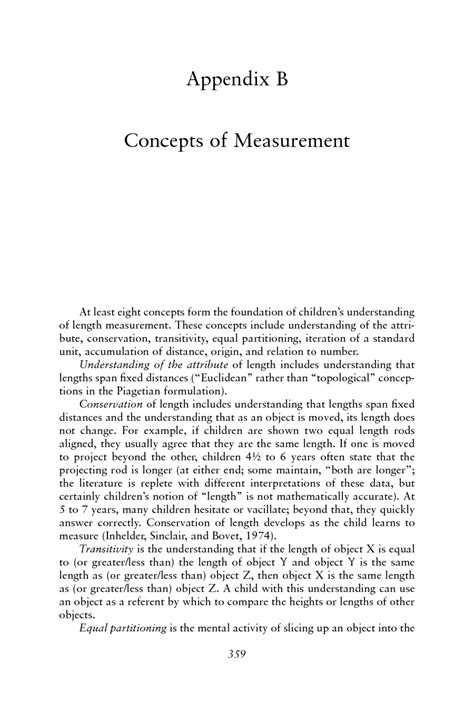 Appendix B: Concepts of Measurement | Mathematics Learning