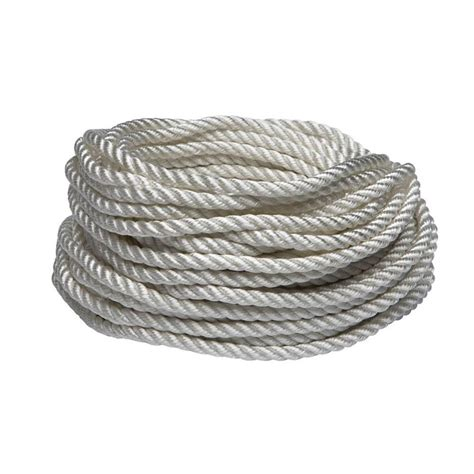 everbilt 1 4 in x 50 ft white twisted and