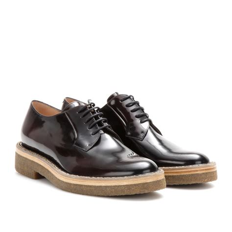 dries noten patent leather derby shoes in black lyst