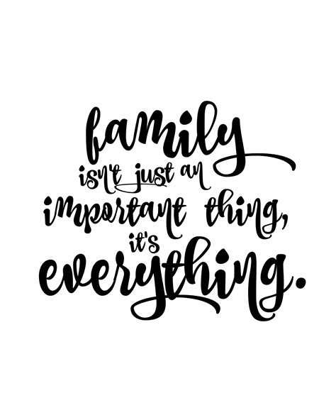 printable quotes about family family first minimalist quotes free printable and