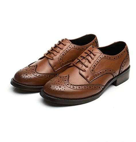 womens oxford shoes brown u lite womens brown perforated lace up wingtip leather