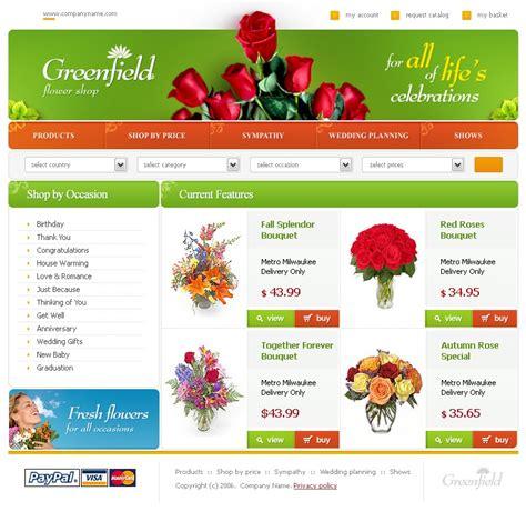 website templates for gift shop flower shop website template 10024
