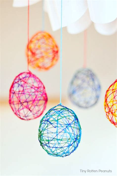 string crafts cool craft string easter eggs this and eggs