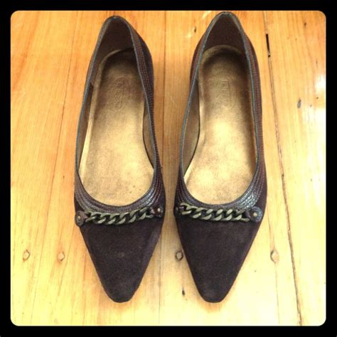 talbots shoes flats 80 talbots shoes talbots brown suede flats from