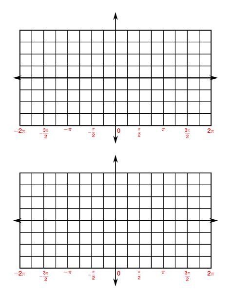 printable graph paper for trig functions 4 quadrants trigonometry paper free download