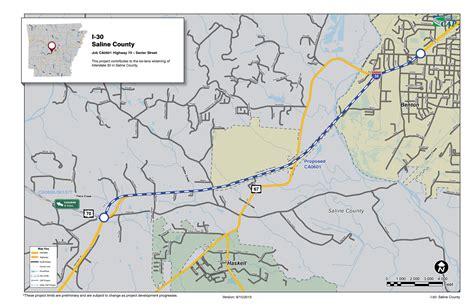 benton texas map transportation in saline county arkansas
