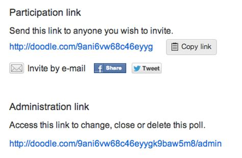 doodle modify poll practices for capability urls