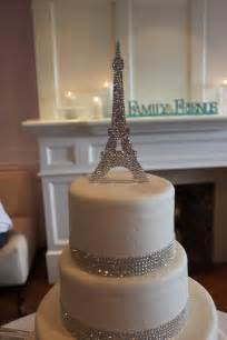 Clear Round Vase Eiffel Tower Custom Cake Topper Fully Covered By
