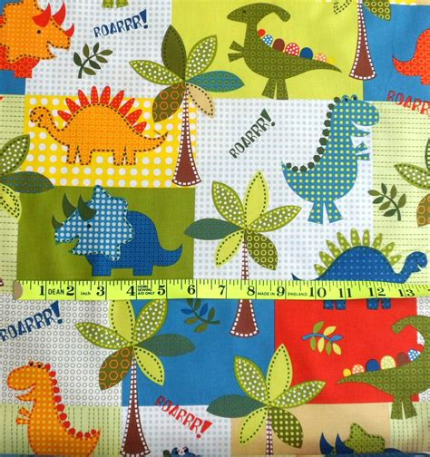 dinosaur cotton fabric dino roars michael miller fabric