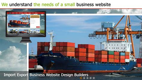 Website Templates For Export Business | import export business website design builder