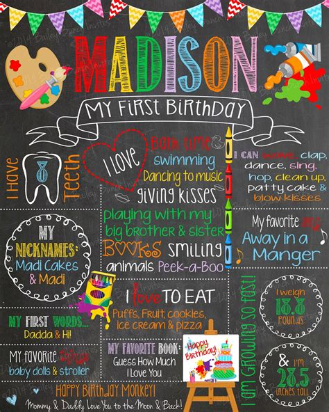 chalkboard paint birthday ideas birthday chalkboard painting rainbow