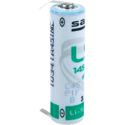 Battery Operated Standard Ls by Non Standard Battery Aa U Solder Pins Lithium Saft From