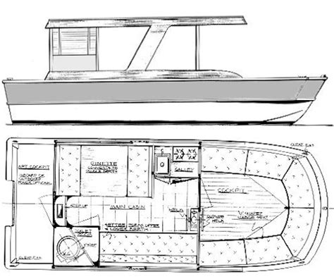 Pontoon House Boat Plans Find House Plans Houseboat Blueprints