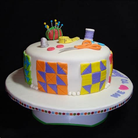 quilt themed birthday cakes sewing quilting cake cakecentral com