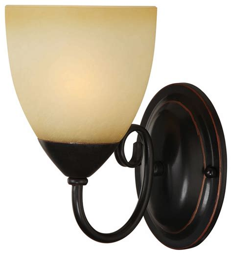 Bathroom Wall Sconces Rubbed Bronze rubbed bronze 1 light wall sconce bathroom fixture traditional wall sconces by door