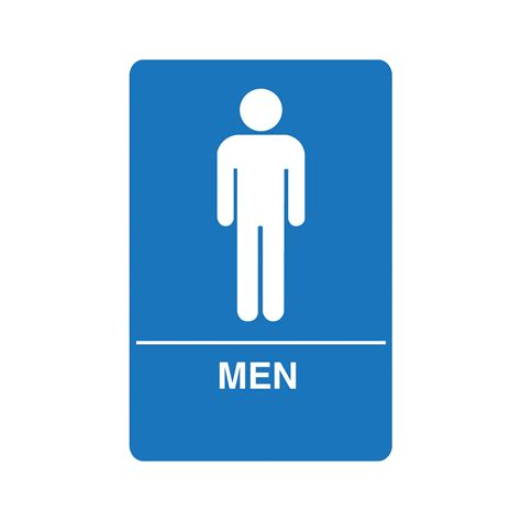 man bathroom sign palmer fixture restroom signs