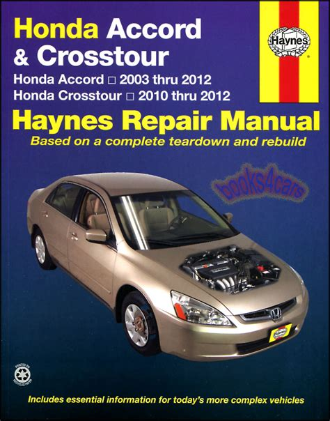honda accord shop manual service repair book haynes workshop chilton ebay
