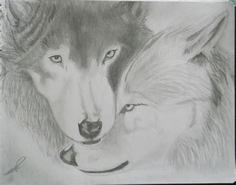 imagenes a lapiz de lobos mi dibujo de 2 lobos resubido taringa