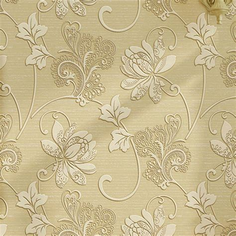 Wallpaper Dinding Korea Motif Salur Classic 3 Roll Besar Luxury Home Decorative Vintage Flower Print Wallpaper Non