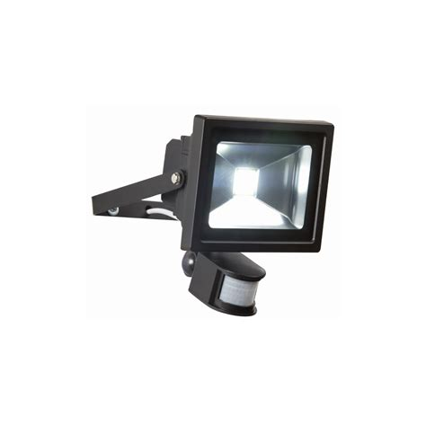 Led Exterior Flood Light Bulbs Endon Lighting El 20w Led Pir Flood Outdoor Pir Sensor Black Flood Light Endon Lighting From