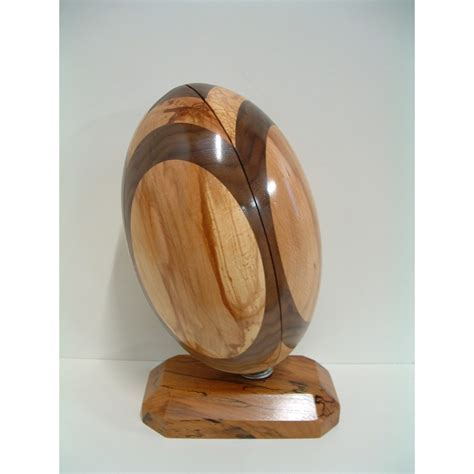 handmade wooden sports trophy rugby 2