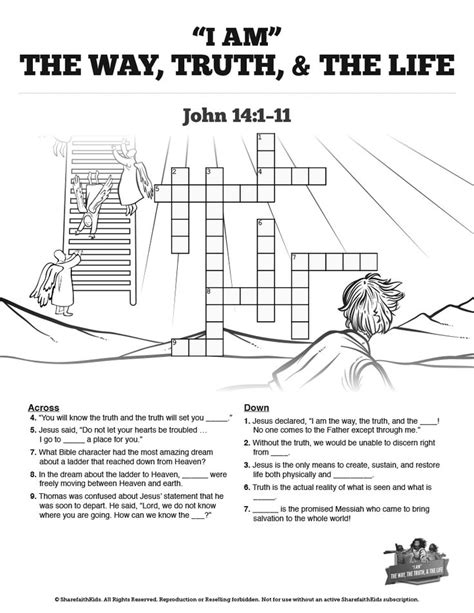 coloring page jesus is the way 14 the way the and the sunday school