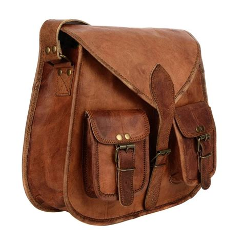 Sachele Brown brown leather satchel style saddle bag by paper high