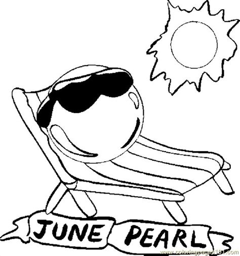 june pearl coloring page  flowers coloring pages