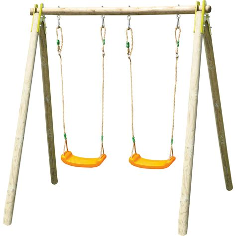 swing for free trigano alfy gamme natura two moulded swing set kiddicare com