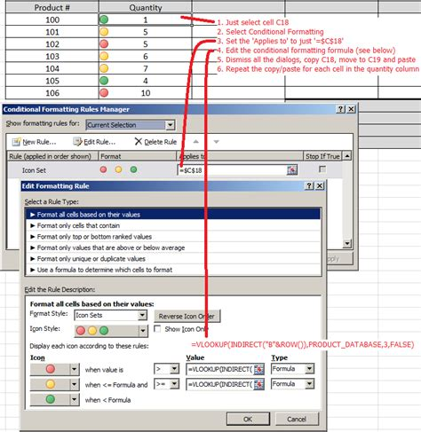 excel format using formula excel conditional formatting with the icon set and a