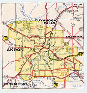 Akron Ohio Map by Akron Virtual Roadtrip