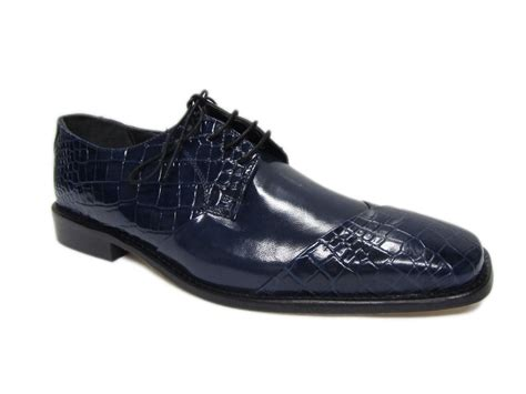 mercer navy blue croc alligator embossed