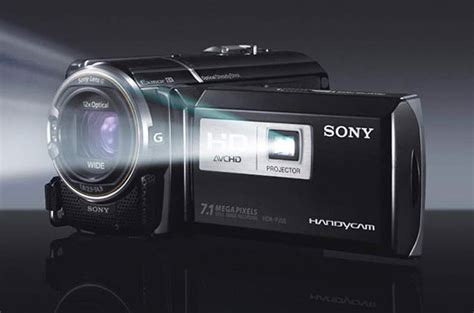 Proyektor Kamera sony handycam hdrpj50 camcorder with projector