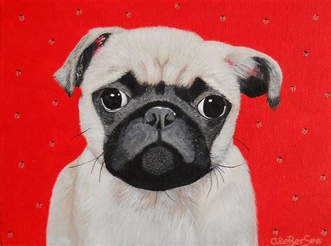 beige pug retrato na 239 f de tu perro por ale berseeel amigo perro