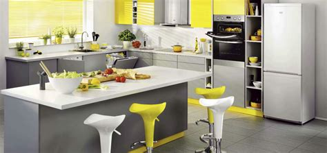 yellow and gray kitchen ideas you can try this