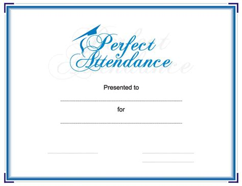 search results for perfect attendance template