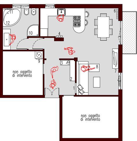 progetto appartamento 50 mq 50mq planimetria arredata architettura a domicilio 174
