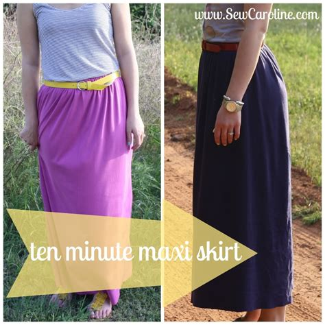 ten minute maxi skirt diy
