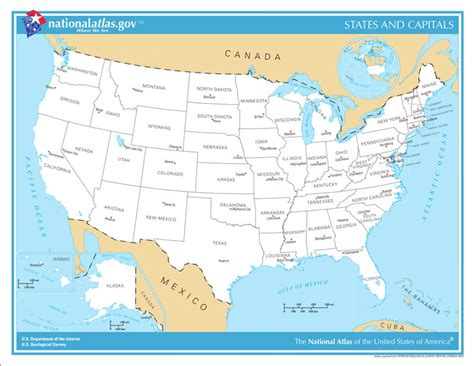 map of united states showing states and capitals united states map with capitals reanimators