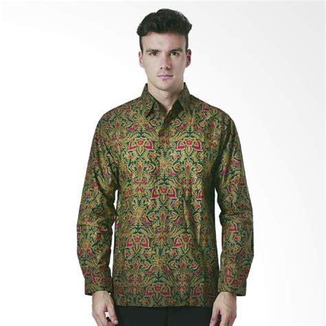 Baju Batik Pria Batik Katun Aamir Kinsler Bk120 jual aamir kinsler batik lengan panjang kemeja pria