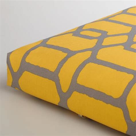 yellow bench cushion yellow gray gate outdoor bench cushion world market