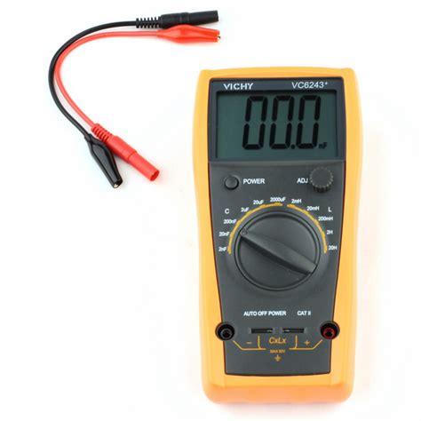 capacitor symbol multimeter vichy vc6243 lcd digital meter capacitance inductance digital 20h multimeter ebay