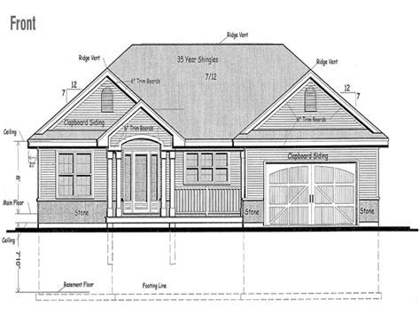 Raised Bungalow House Plans by Raised Bungalow Canadian House Plans Raised Bungalow House