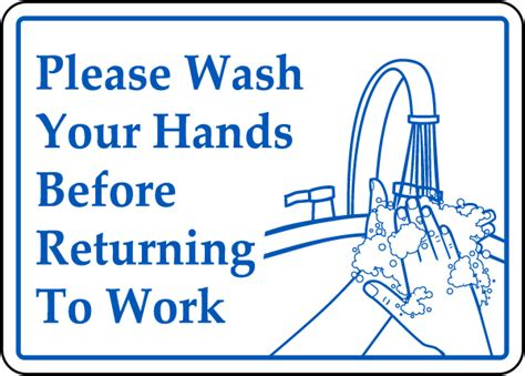 bathroom signs wash your hands wash hands before work sign by safetysign com d5813